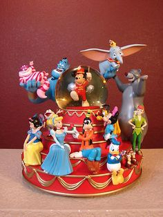 Bandleader Mickey and Friends Group Disney Musical Snowglobe | eBay