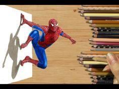 3D Pencil Drawing: Spider-Man Speed Draw | Jasmina Susak How to Draw Marvel Superhero Spiderman - YouTube