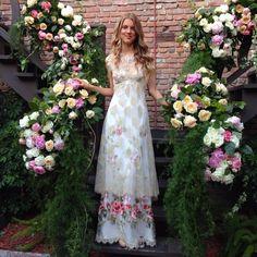 Claire Pettibone 'Heart's Desire' wedding dress at the #ClairePettibone20th Anniversary Party | Photo: Little White Dress http://www.clairepettibone.com/hearts_desire