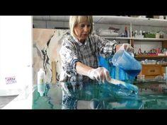 resin art perspex - YouTube
