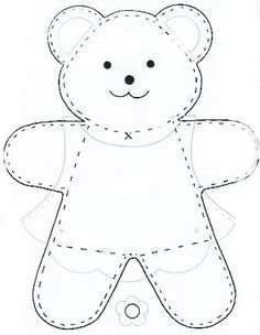 See Best Photos of Felt Bear Template. Teddy Bear Felt Template Bear Cut Out Pattern Winnie the Pooh Free Felt Templates Felt Teddy Bear Patterns Free Small Teddy Bear Patterns Felt Patterns, Applique Patterns, Sewing Patterns, Applique Templates, Knitting Patterns, Sewing Toys, Sewing Crafts, Sewing Projects, Free Sewing