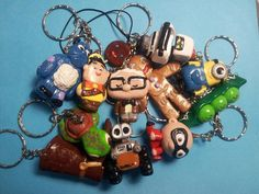 polimer clay keyrings! UP! search in FB moonerias  Sulley