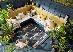 Indoor Outdoor Rugs, Outdoor Spaces, Outdoor Living, Outdoor Decor, Home Design, Modern Design, Design Ideas, Garden Furniture, Outdoor Furniture Sets