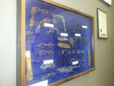Its an OPTICIAN thing!  Antique spectacle collection; oldest piece is from 1760. On display in my shop,  Hope Optical,  Hope BC Canada courtesy Mr. David Nelson.