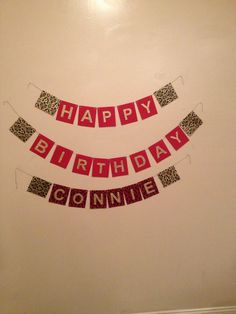 Banner I made for my aunt's surprise 60th bday party. It's crooked because it wouldn't stay taped up and I have up on trying to center it.