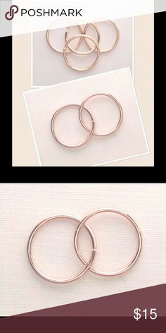 Price  rose gold Hoop for piercings A 10mm 14k rose gold filled seamless Hoop for any Piercing. These are 20 gauge and will fit into any regular Piercing. Completely hypoallergenic and nickel free nejd Jewelry Earrings
