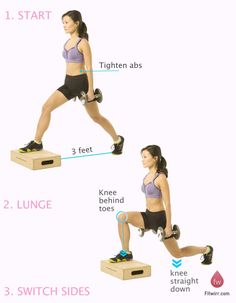 Dumbbell Box Split Squat is an advanced version of split squat that makes use of a pair of dumbbells as resistance as well as a box to heighten the front foot Workout Days, Workout Memes, Wednesday Workout, Butt Workouts, Lunges, Squats, Squat Technique, Quad Exercises, Split Squat