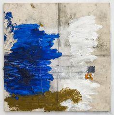 Oscar Murillo Oil, oil stick, graphite, dirt on canvas