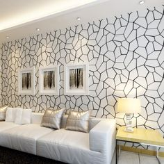 24.89$  Watch here - http://ali8f4.shopchina.info/go.php?t=32778850173 - Black And White Geometric Non-woven Wallpaper Modern Living Room Bedroom Study Restaurant Video Wall TV Background Wallpaper 3D  #magazineonlinebeautiful