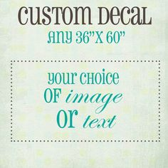 Custom Huge Wall Decal 3 ft x 5 ft You Choose Any by luxeloft, $150.00. For playroom