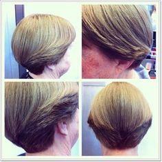 Dorothy Hamill Wedge Haircut Front and Back View - Bing images Short Stacked Wedge Haircut, Short Wedge Hairstyles, Stacked Haircuts, Medium Hair Cuts, Short Hair Cuts, Medium Hair Styles, Short Hair Styles, Dorothy Hamill Haircut, Corte Y Color