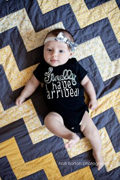 Finally, I Have Arrived Baby One Piece Bodysuit - Funny Birth Announcement Baby Shirt - Baby and Toddler - Girls Clothing - Boys Clothing