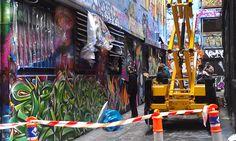 Hosier Lane Street Art, Sunday 10 November, 2013.
