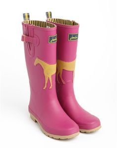 WINSTANLEY WELLY Womens Horse Print Wellies...I want these!!