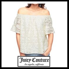 💜HP💜JUICY COUTURE Marguerite Corded Lace Top NWT JUICY COUTURE Marguerite Corded Lace Top. NWT. Fully lined. SOLD OUT ONLINE! Juicy Couture Tops