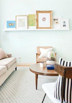 Sweet Home Chicago | Yellow Brick Home. I love the arrangement of prints