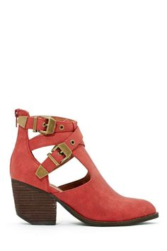 Jeffrey Campbell Everwell Ankle Boot - Red