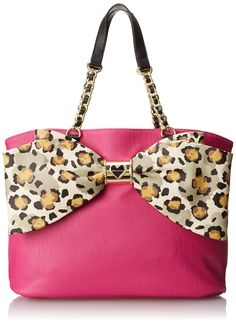 Betsey Johnson Bow Lovely Tote, Pink