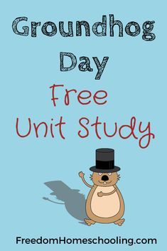 This FREE unit study is a great way to teach your children more about Groundhog Day. Kindergarten Writing Prompts, Writing Prompts For Kids, Kids Writing, Free Homeschool Curriculum, Homeschooling Resources, Winter Activities For Kids, Holiday Activities, Rhyming Words, Groundhog Day