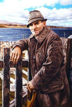 Angus Jaffray, Graveyard, Stanley, Falkland Islands, by Duffy Sheridan.  See more of Duffy's paintings at http://www.duffysheridan.com