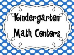Kindergarten Math Centers: setup, activities, A SALE, & FREEBIES