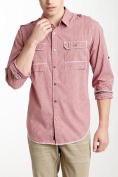 Long Sleeve Roll Tab Militray 2 Pocket Shirt on HauteLook