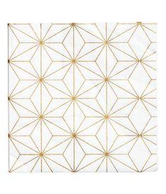 Papirservietter | Hvit/Gullfarget | H&M HOME | H&M NO