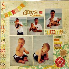 Summer Fun Page 1 - Scrapbook.com - Love this Memory Works Collection used to create this fun summertime layout. #scrapbooking #baby #memoryworks