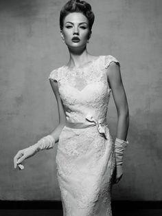 Bellísimos y elegantes son los vestidos de novia de la firma Lusan Mandongus.