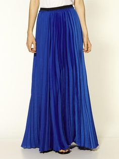 pleated maxi skirt - Blue Maison Martin Margiela With Mastercard Cheap Price Outlet Best Store To Get N6dMN