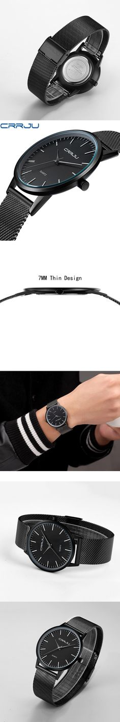 Fashion Men Wrist Watch Ultra Thin Simple Quartz Wristwatch Stainless Steel Mesh Strap Clock Male Relogio Masculino Hodinky 46