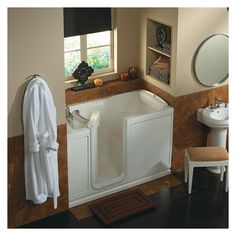 Generous Deep Tub Small Bathroom Tiny Bath Vanities New Jersey Flat Tile Backsplash In Bathroom Pictures Beautiful Bathrooms With Shower Curtains Old Build Your Own Bathroom Vanity GreenNatural Stone Bathroom Tiles Uk Ariel EZWT 2651 L AIR 60\u0026quot; Walk In Air Bath Tub With Left Hand ..