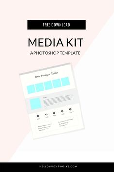 free downloads resources from brightworks media kit templateinspiration