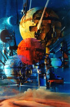 """John Berkey "" The lost future Sci Fi Fantasy, Fantasy World, John Berkey, Sci Fi Kunst, Science Fiction Kunst, Syd Mead, 70s Sci Fi Art, Space Battles, Futuristic Art"