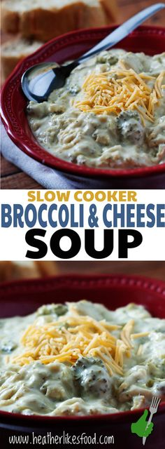 Everyone needs a good broccoli and cheese soup in their life and that is just what this is! It is rich, creamy, full of broccoli and is super simple to throw together and let simmer the day away in the slow cooker.