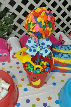 Blues Clues Party Table Toppers :) -I needed this 12 years ago for C's 1st birthday.