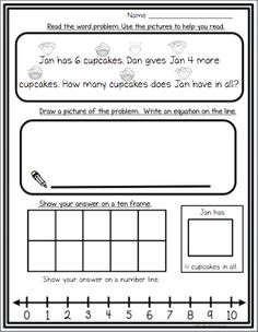 FREEBIE - Solving word problems using multiple strategies. Word problems includes pictures to help students read independently