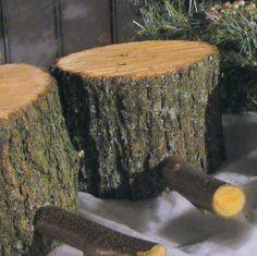 Log Stocking Holder Rustic Stocking Hanger by GFTWoodcraft