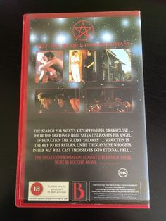 Rare, Witchcraft part 2 - The Temptress (Witchcraft II), ex-rental, big box, pre-Brexit, horror, PAL VHS video, Box Office Films Ltd (Colourbox, Hollywood Producers Club, Mega Communications and BCB) @ialocinnicolai 2