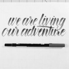 Brush pen lettering with a Tombow brush marker.