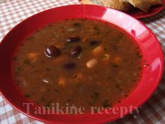Beans, Vegetables, Soups, Food, Essen, Vegetable Recipes, Soup, Meals, Yemek