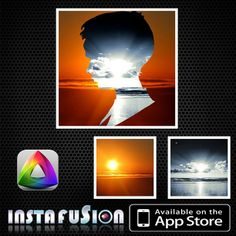 Instafusion is a  great app for a creative split or something transitional you want to convey in your photos or images!!! https://itunes.apple.com/app/id709157905
