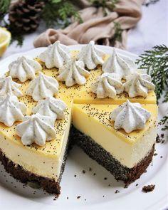 Mákos-citromhabos torta | Ízből tíz Desserts Menu, Cold Desserts, No Bake Desserts, Sweet Recipes, Cake Recipes, Torte Cake, Traditional Cakes, Cream Cheese Recipes, Hungarian Recipes