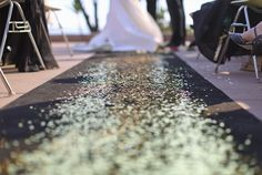 Move over flower girls - make room for glitter girls! What a sparkling idea!