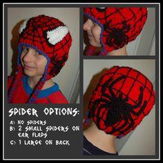 Spiderman Beanie or Earflap Hat