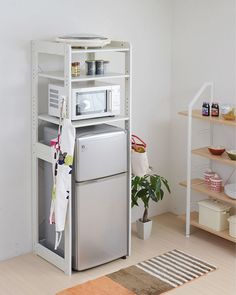 livingut | Rakuten Global Market: Rack refrigerator top rack kitchen shelves ( range stand alone Mini refrigerator shelves kitchen )