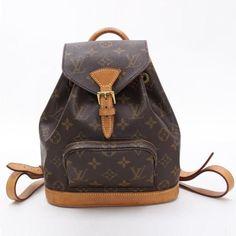 Louis Vuitton Mini Montsouris Monogram Backpacks Brown Canvas M51137