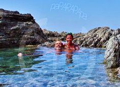 Paparapapa disfrutando del agua cristalina. Isla Rosada, Costa Rica.