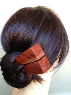 Hair Sticks Australian Hairy Oak Wood Pair Chunky by votepalantine, $38.00