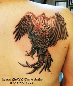 Phoenix tattoo '' tattoo artist by Murat GÜREL '' manisa dövme